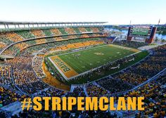 McLane Stadium looks great in stripes! #SicEm