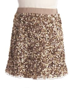 Zoe Skirt for girls! Who doesn't love gold sequins!