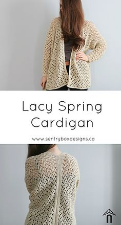 93a14f917 Ravelry  Lacy Spring Cardigan pattern by Sentry Box Designs Crochet Coat
