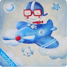 cuadro infantil aviador