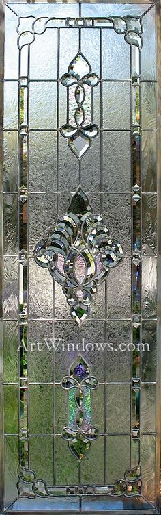 Frosted Glass Door, Stained Glass Door, Stained Glass Designs, Stained Glass Panels, Stained Concrete, Stained Glass Projects, Stained Glass Patterns, Leaded Glass, Beveled Glass