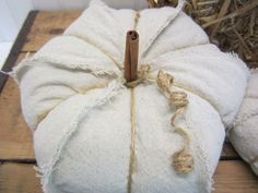 Set of 3 Handmade Drop Cloth Fabric and Jute by SimplyCountryHome
