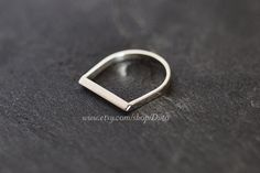 Size 6, Sterling Silver, Handmade Jewelry, Razor Ring, Statement Ring, Silver Jewelry, Ready To Ship!