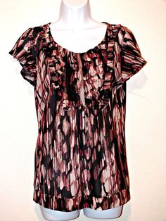 THE LIMITED Casual Short Sleeve Women's Top Blouse Size M #TheLimited #Blouse #Casual