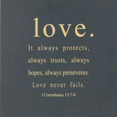 love. it always...