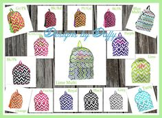 Personalized Chevron Backpack and Lunch Totes  by DesignsbyDaffy, $13.95
