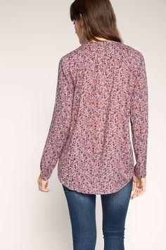 EDC / Luchtige blouse met millefleurs