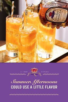 When we seize the moment, we make sure to make it sweet. Pour you and your friends a round Crown Royal Vanilla Flavored Whisky + Gingers this summer. Crown Vanilla + Ginger 1.5 oz. Crown Royal Vanilla 4 oz. ginger ale