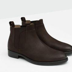 ZARA - COLLECTION AW15 - LEATHER CHELSEA BOOTS