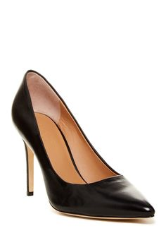 Halston Heritage - Courtney Leather Pump at Nordstrom Rack. Free Shipping on orders over $100.