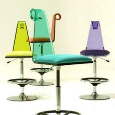 Loft Ideas:  Color me funky!  Cool chairs.  @loftsinatlanta.com