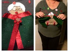 ugly x-mas sweater concepts Ugly/naughty Christmas sweater- Mrs Claus flasher Shopping for What You Inappropriate Christmas Sweaters, Naughty Christmas Sweater, Funny Christmas Sweaters, Ugly Christmas Sweater Women, Ugly Sweater, Xmas Sweaters, Christmas Shirts, Christmas Party Games, Christmas Ideas
