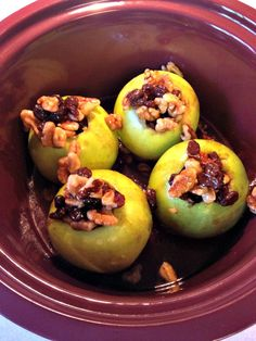 Slow Cooker Baked Apples - Inspiration For Moms