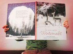 Kinderbuch: In einer weißen Winternacht - ein wunderschönes Einschlafbuch für die kalte Jahreszeit und beim ersten Schnee. Ausführliche Besprechung im Blog bei HausHofKind.