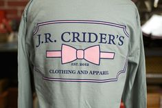 J.R. Crider's Clothing & Apparel — The Long Sleeve Women's Logo Tee
