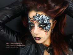 SEXY HALLOWEEN Face Painting by Silvia Vitali https://www.facepainting.academy/face-painting-academy-pre-lancio/