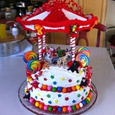 Carnival cake for Alex! by heather