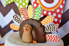 3D Chevron Thanksgiving Turkey