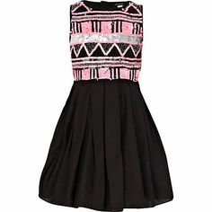 Aztec Shirts for teen girls | girls pink aztec embellished prom dress she will party in style with ...
