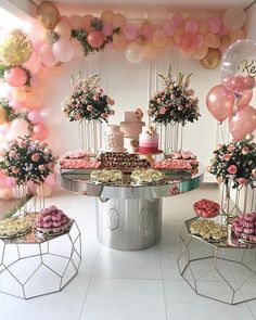 Birthday ideas romantic bridal shower 51 ideas for 2019 Bridal Shower Decorations, Balloon Decorations, Birthday Party Decorations, Wedding Decorations, Birthday Parties, Birthday Ideas, 18 Birthday, Party Themes, Pink Party Decorations
