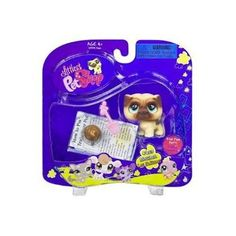 Amazon.com: Littlest Pet Shop Pug Dog with Accessory: Toys & Games (Owned his name is MudBud)