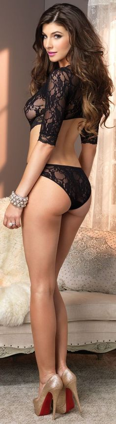 Black top and lacy panties. WoW!
