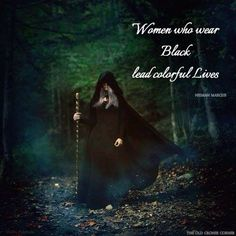 Women who wear black lead colorful lives !!! Yes indeed we do  )O(  ╰☆╮skymomma╰☆╮