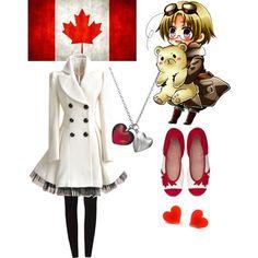"""Hetalia-Canada Gender Bender"" by sammiegilbert on Polyvore"