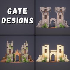 Minecraft Wall, Cute Minecraft Houses, Minecraft Plans, Minecraft House Designs, Minecraft Survival, Amazing Minecraft, Minecraft Tutorial, Minecraft Blueprints, Minecraft Crafts