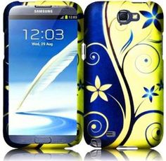 Amazon.com: Samsung Galaxy Note 2 N7100 Royal Swirl Hard Snap On Case Cover Faceplate Protector with Free Gift Reliable Accessory Pen: Cell Phones & Accessories