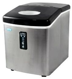 NewAir AI 100SS 28 Pound Portable Ice Maker, Stainless Steel