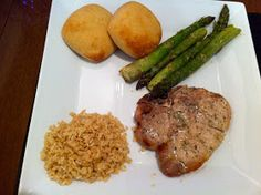 Hidden Valley Ranch Porkchops. These were excellent. And they browned perfectly in the oven