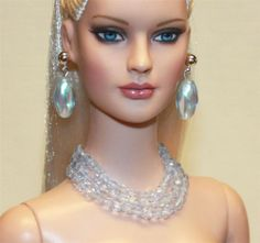 """Blue Ice"" Jewelry Set for Tonner Tyler Cami Ellowyne DeeAnna Gene Sybarite"