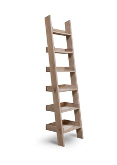 Ladder Bookshelf Plans Ladder shelf measurements almost exactly like the ones i love from this raw oak ladder shelf with six shelves of varying depth is great for displaying books vases plants and other beautiful object sisterspd