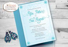 Winter Wedding Invitation Set Winter by CharmingChestnuts on Etsy