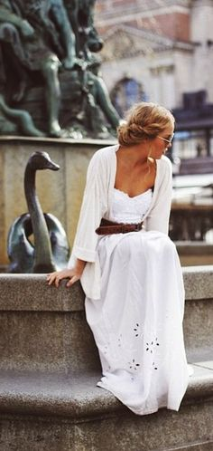 White plain but cute Summer Dress