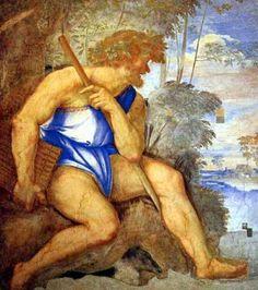 Sebastiano del Piombo - Polyphemus (Polifemo), circa 1512, Fresco, Villa Farnesina, Rome.