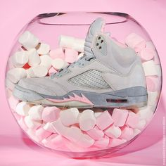 Sweet #Kicks. Air #Jordan 5 Pink Grey. #sneakers #photography