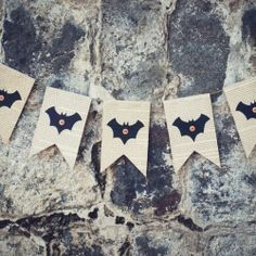 Create a simple book page bat bunting to add to your halloween decor.