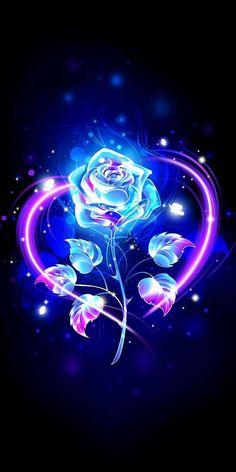Purple Galaxy Wallpaper, Blue Roses Wallpaper, Flower Phone Wallpaper, Neon Wallpaper, Cute Girl Wallpaper, Cute Wallpaper Backgrounds, Cute Cartoon Wallpapers, Pretty Wallpapers, Disney Wallpaper