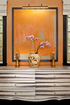 Kelly Wearstler Residential - home accessories - Dekor Labor Buffets, Floor Design, House Design, Wall Design, Console Design, Kelly Wearstler, Design Furniture, Painted Furniture, Of Wallpaper