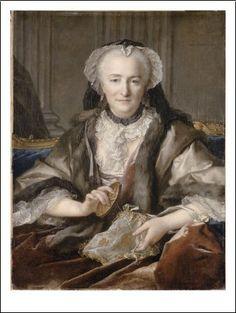Louis Tocque - Madame Dangé faisant des noeuds (1740)(Louvre, Paris)