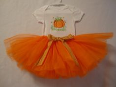 1St Girls Princess Pumpkin Onesie Tutu Hat Birthday Outfit Fall Outfit Special Birthday Fall Season Photo Shower Gift on Etsy, $50.00