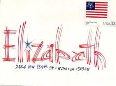 Patriotic envelope address design