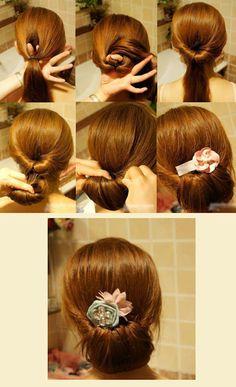 Peinados DIY. #moño #peinados #recogido