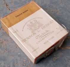 Vintage 1939 Benson & Hedges Turkish Cigarette Pack with Tax Stamp by vavoombisbee on Etsy