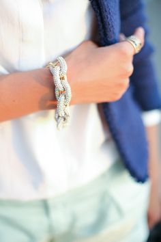 Obsessed with this pave bracelet!