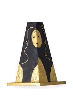 Evening at Giza (black) Bronze, lost wax hand painted, 1998, 57x35x35 cm