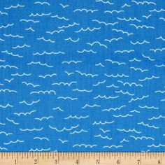Newport Wave Blue from @fabricdotcom  Designed by Studio 8 for Quilting Treasures, this fabric is perfect for quilting, apparel and home decor accents. Colors include white and medium blue.