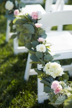 Lovely floral garland to line the aisle